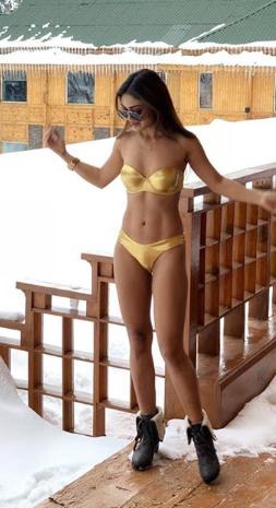 Sreejia De in Bikini