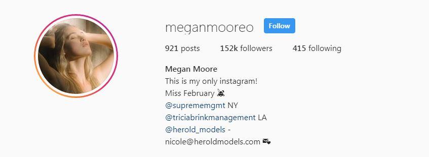 Megan moore instagram